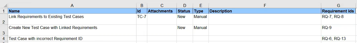 Import Or Modify Test Cases Using Microsoft Excel